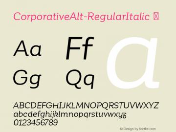 CorporativeAlt-RegularItalic