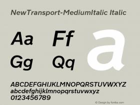 NewTransport-MediumItalic