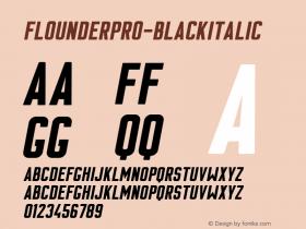 FlounderPro-BlackItalic