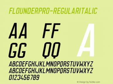 FlounderPro-RegularItalic