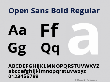 Open Sans Bold