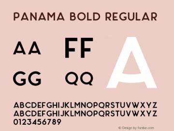 Panama Bold