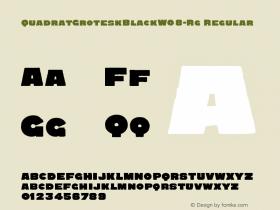 QuadratGroteskBlack-Rg