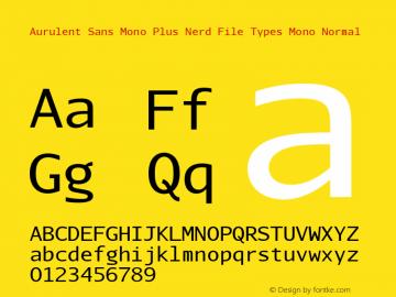 Aurulent Sans Mono Plus Nerd File Types Mono