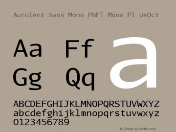 Aurulent Sans Mono PNFT Mono Pl