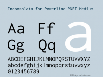 Inconsolata for Powerline PNFT