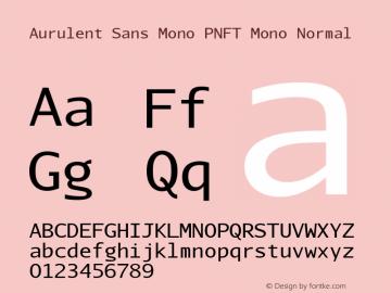 Aurulent Sans Mono PNFT Mono
