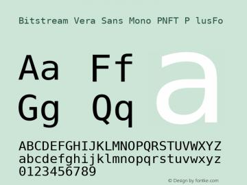 Bitstream Vera Sans Mono PNFT P
