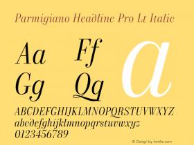 Parmigiano Headline Pro Lt