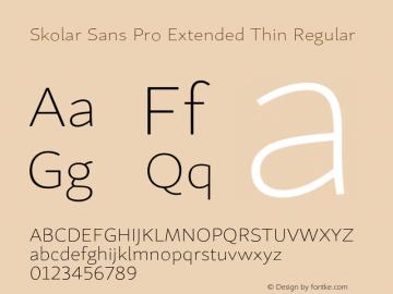 Skolar Sans Pro Extended Thin