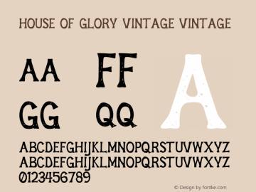 House of Glory Vintage