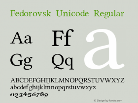 Fedorovsk Unicode