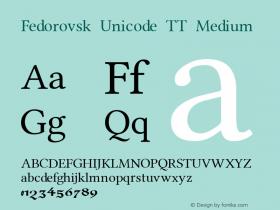 Fedorovsk Unicode TT