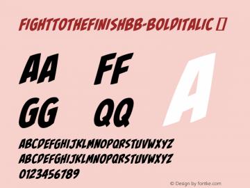 FighttotheFinishBB-BoldItalic