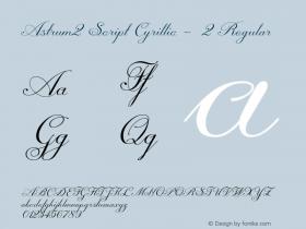 Astrum2 Script Cyrillic - 2