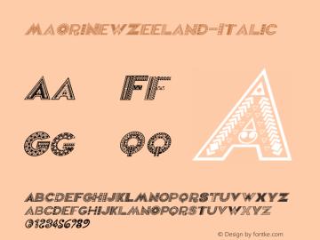 MaoriNewZeeland-Italic