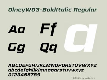 Olney-BoldItalic