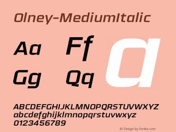 Olney-MediumItalic