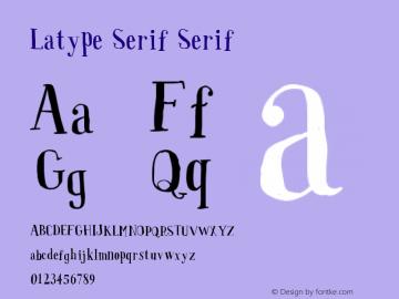 Latype Serif