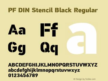 PF DIN Stencil Black