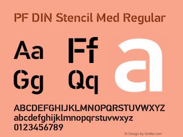 PF DIN Stencil Med