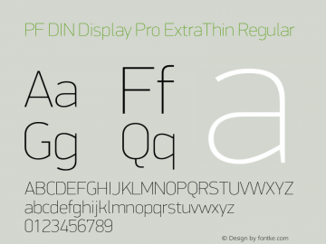 PF DIN Display Pro ExtraThin