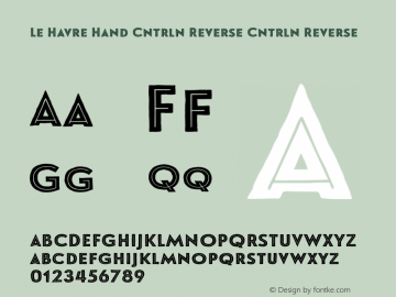 Le Havre Hand Cntrln Reverse