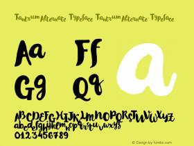 Tantrum Alternate Typeface