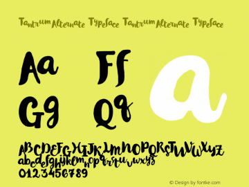Tantrum Alternate Typeface