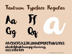 Tantrum Typeface