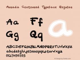 Aurada Contoured Typeface