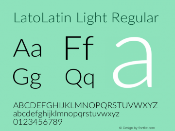 LatoLatin Light