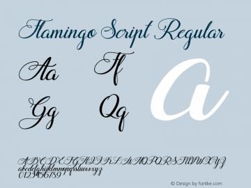 Flamingo Script