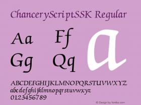 ChanceryScriptSSK
