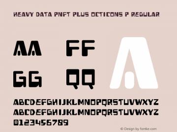 Heavy Data PNFT Plus Octicons P