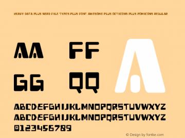 Heavy Data Plus Nerd File Types Plus Font Awesome Plus Octicons Plus Pomicons