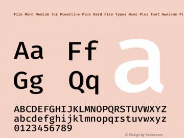 Fira Mono Medium for Powerline Plus Nerd File Types Mono Plus Font Awesome Plus Octicons