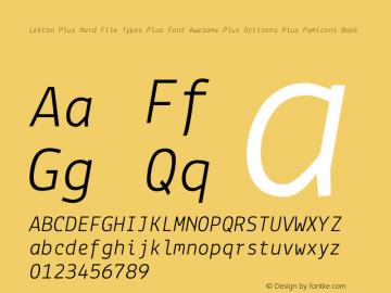 Lekton Plus Nerd File Types Plus Font Awesome Plus Octicons Plus Pomicons