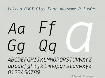 Lekton PNFT Plus Font Awesome P