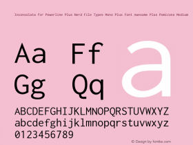 Inconsolata for Powerline Plus Nerd File Types Mono Plus Font Awesome Plus Pomicons