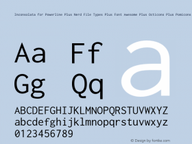 Inconsolata for Powerline Plus Nerd File Types Plus Font Awesome Plus Octicons Plus Pomicons