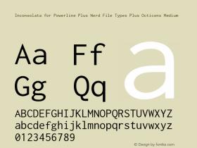 Inconsolata for Powerline Plus Nerd File Types Plus Octicons