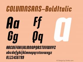 COLUMNSANS-BoldItalic