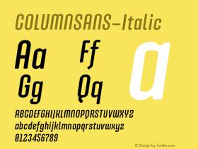 COLUMNSANS-Italic