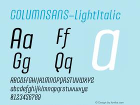 COLUMNSANS-LightItalic