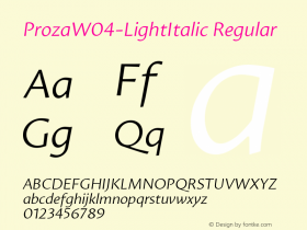 Proza-LightItalic