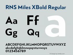 RNS Miles XBold
