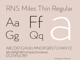 RNS Miles Thin