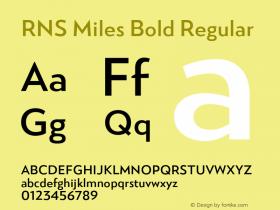 RNS Miles Bold
