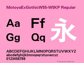 MotoyaExGothic-W5KP